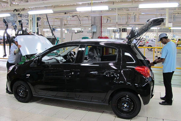 Mitsubishi Mirage factory