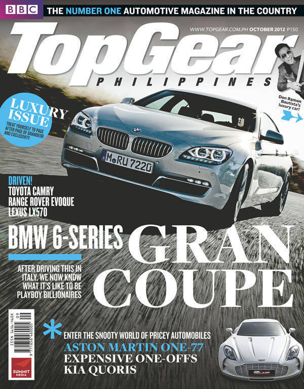Top Gear Philippines' October 2012 issue