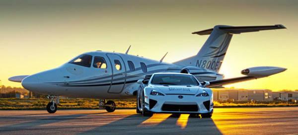 Lexus LFA versus Eclipse 500 jet