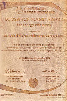 TopGear.com.ph Philippine Car News - Mitsubishi PH receives eco award