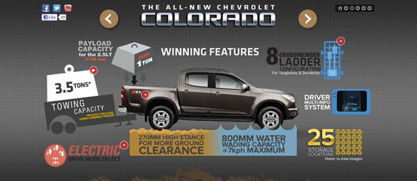 TopGear.com.ph Philippine Car News - Chevrolet PH launches Colorado-dedicated website