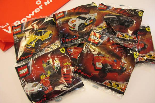 Shell Lego Ferrari toy cars