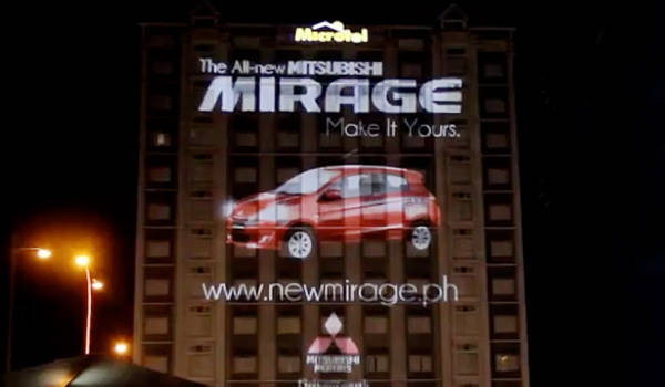 Mitsubishi Mirage video mapping