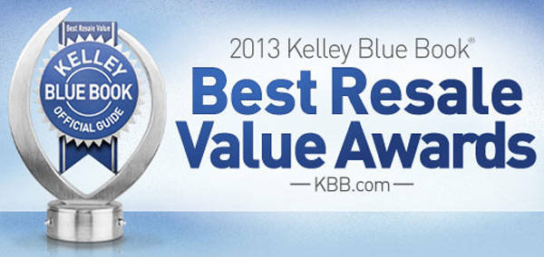 Kelley Blue Book 2013 Best Resale Value Awards