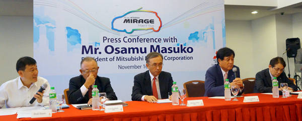 Mitsubishi Japan president talks about the Mirage