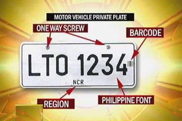 New license plate for private vehicles