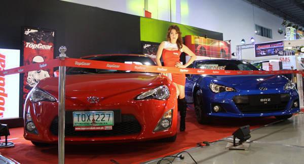Top Gear booth at 2012 Manila Auto Salon
