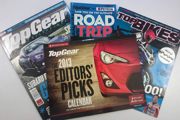 Top Gear Philippines' December 2012/January 2013 supplements