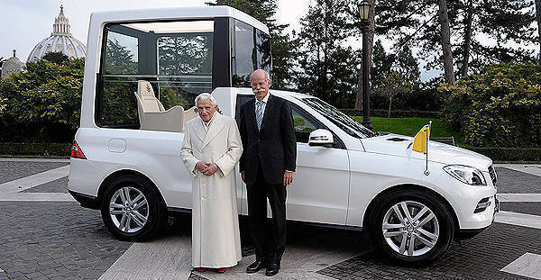 TopGear.com.ph Philippine Car News - New Popemobile is Mercedes-Benz M-Class