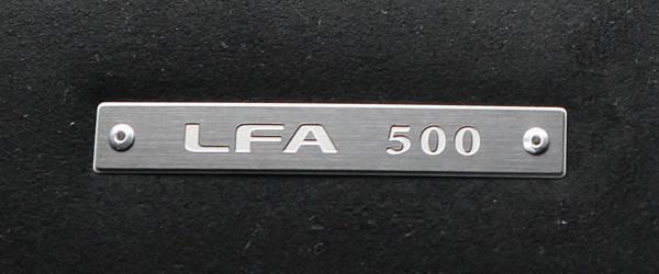 500th Lexus LFA