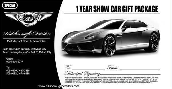 Christmas gift tip #5: Hillsborough Detailers Gift Certificate