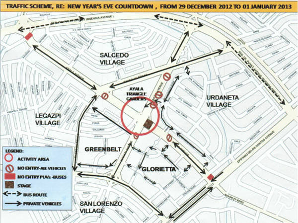 TopGear.com.ph Philippine Car News - Makati City releases traffic rerouting for its New Year's Eve countdown