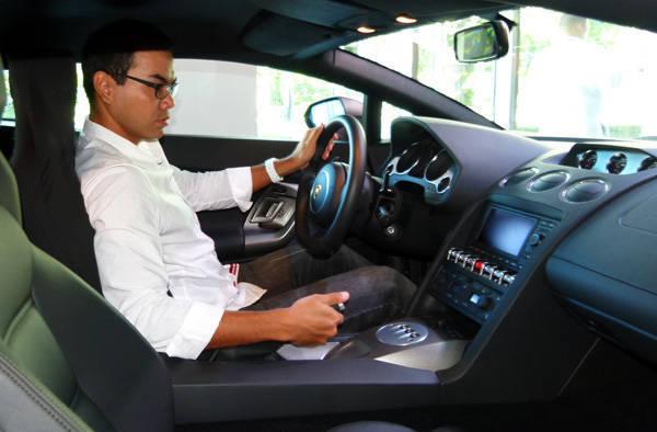 Inside a Lamborghini Gallardo