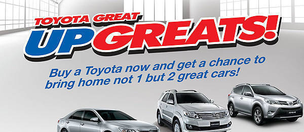 TopGear.com.ph Philippine Car News - Toyota wants you to win a brand-new car with its Great Upgreats promo