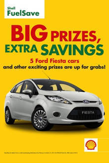 TopGear.com.ph Philippine Car News - Shell raffling off Ford Fiestas in its 'Big Prizes, Extra Savings' promo