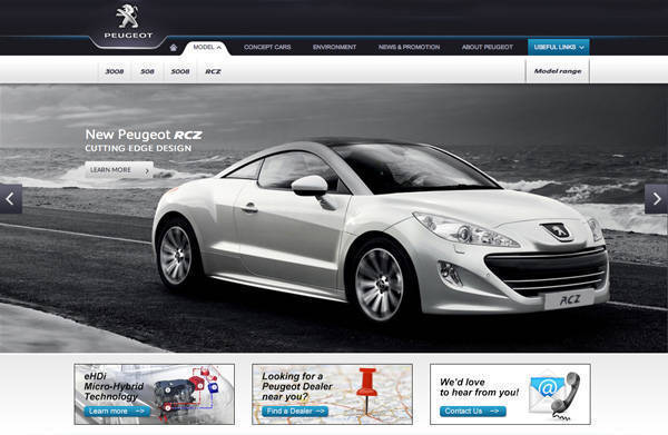 Peugeot PH website