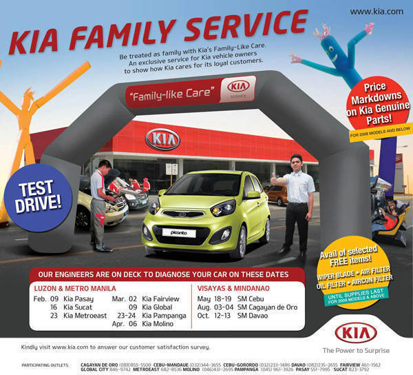 TopGear.com.ph Philippine Car News - Kia PH distributor brings its Kia Family Service program nationwide