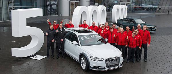 TopGear.com.ph Philippine Car News - Audi celebrates milestone with 5 millionth Quattro vehicle