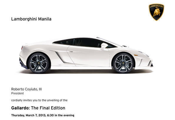 TopGear.com.ph Philippine Car News - Final-Edition Lamborghini Gallardo lands in PH next week