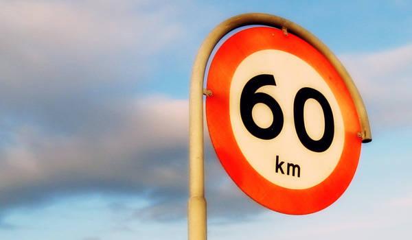 60kph limit