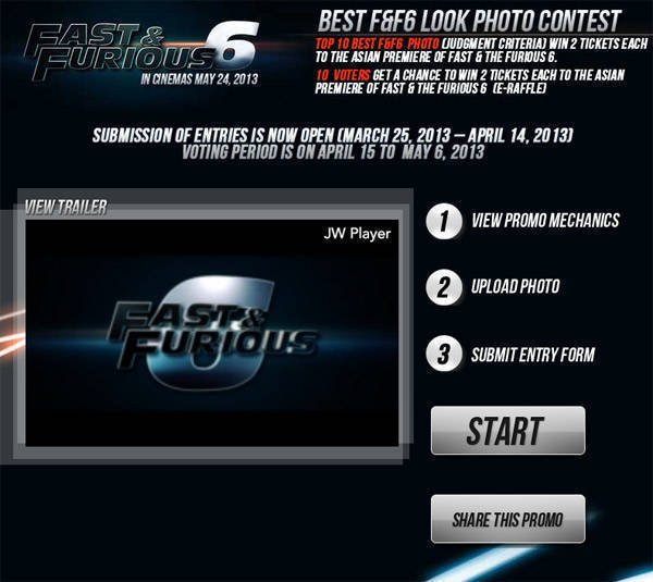 Share a photo of your modified ride to win Fast and Furious 6 movie tickets
