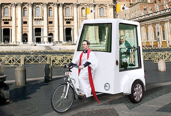 TopGear.com.ph Philippine Car News - Pope Francis may ditch gas-fed Popemobile for pedal-powered one