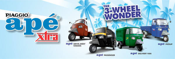 TopGear.com.ph Philippine Car News - Piaggio's commercial vehicles are stylish utility tricycles