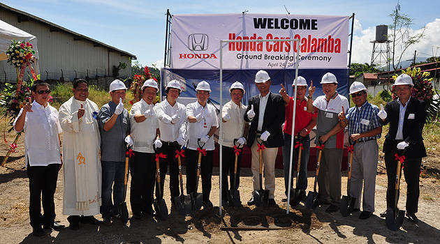 TopGear.com.ph Philippine Car News - Honda PH breaks ground for Calamba City dealership