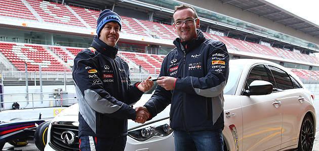 TopGear.com.ph Philippine Car News - Sebastian Vettel receives first Infiniti FX Vettel Edition