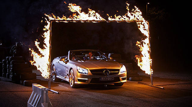 TopGear.com.ph Philippine Car News - Magician drives David Coulthard in a Mercedes-Benz SL63 AMG