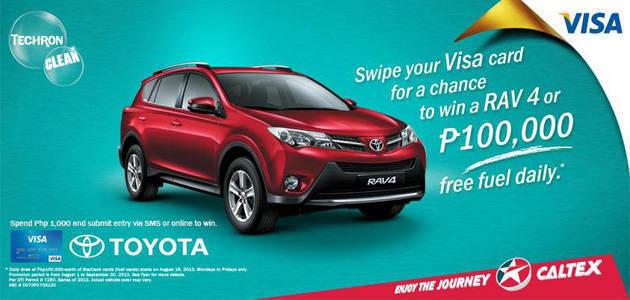 TopGear.com.ph Philippine Car News - Caltex is giving away fuel cards, Toyota RAV4