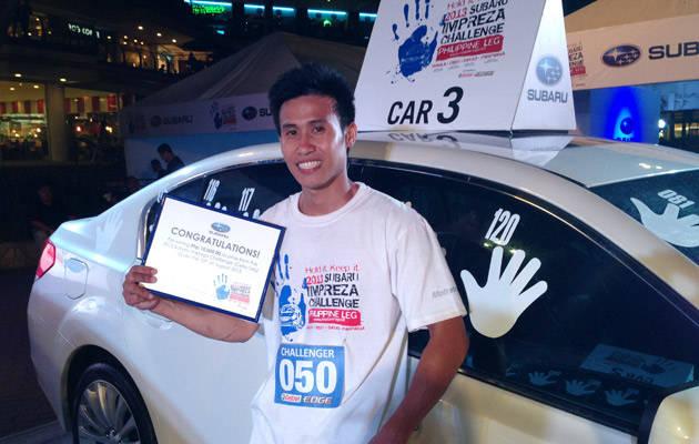 Subaru Challenge Cebu leg winner