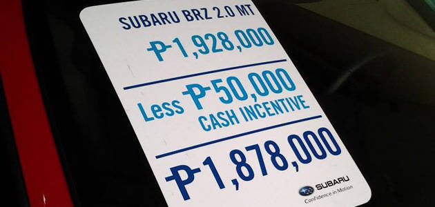 TopGear.com.ph Philippine Car News - Want to know how much Subaru's vehicles cost this week?