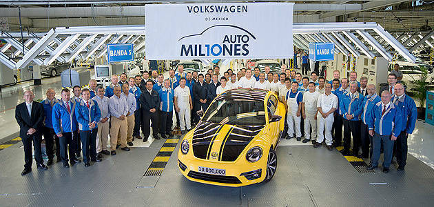 TopGear.com.ph Philippine Car News - Volkswagen's Mexico plant produces its 10 millionth vehicle
