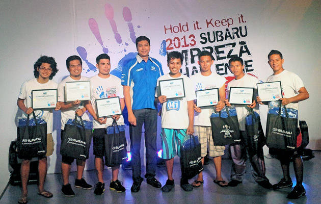 Subaru Impreza Challenge Manila leg winners