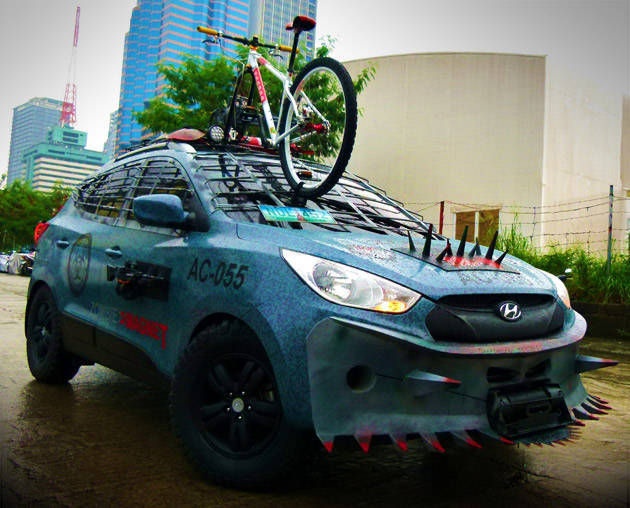 Driving the Hyundai Tucson zombie survival machine