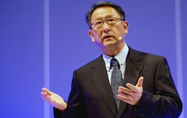 Toyota Motor Corporation CEO and president Akio Toyoda