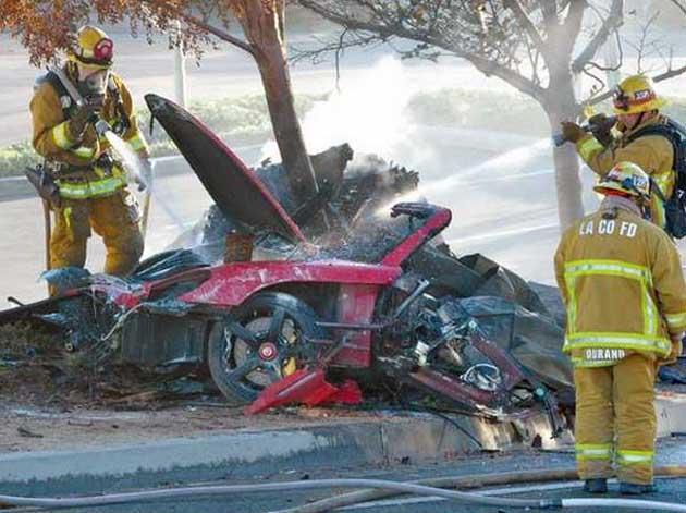 Paul Walker's accident scene