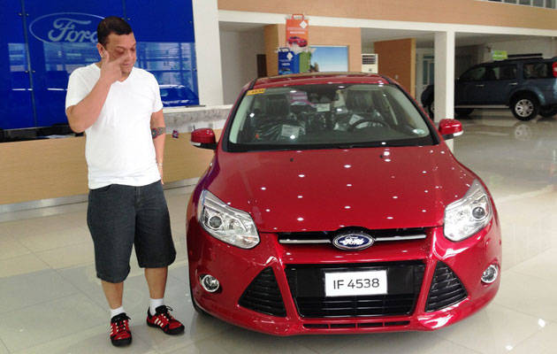 Mitoy Yonting and his new Ford Focus
