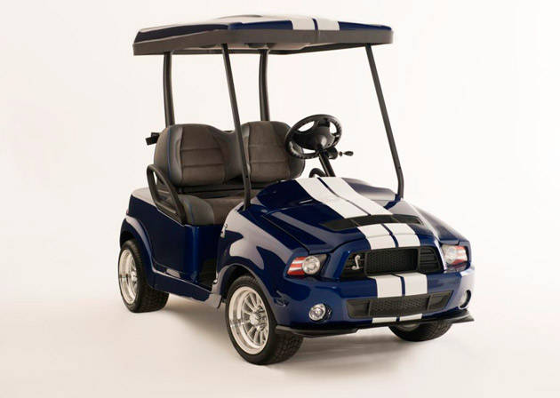 Three lucky Mustang customers get to own specially-designed golf carts