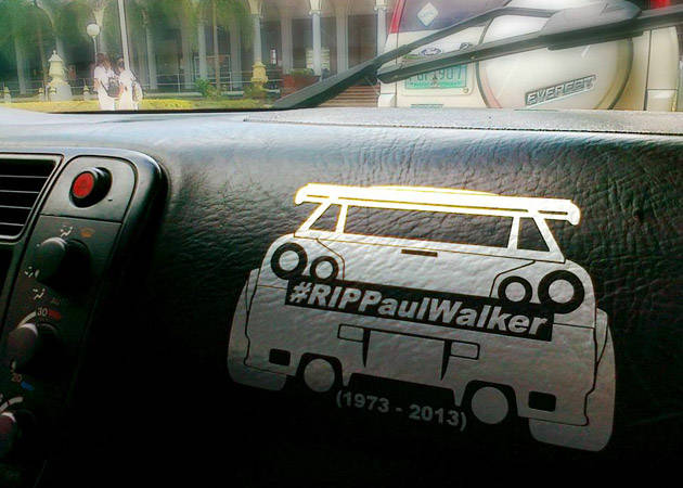 Paul Walker tribute sticker