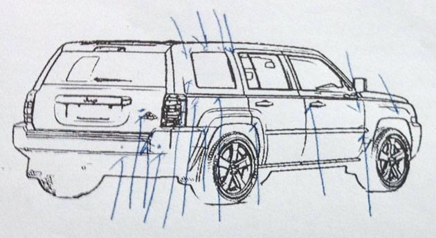 Toyota FJ Cruiser wrap job gone bad