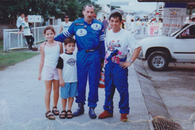 Michele Bumgarner: Supporting my dad at Carmona (1998)