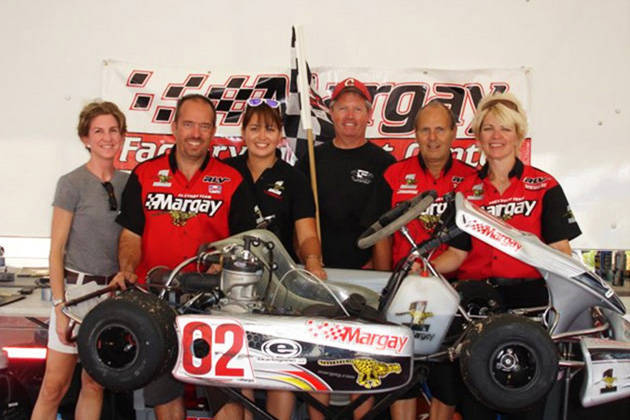 Michele Bumgarner: With my Margay team after winning the Rock Island Grand Prix in Rock Island, Illinois (2008))