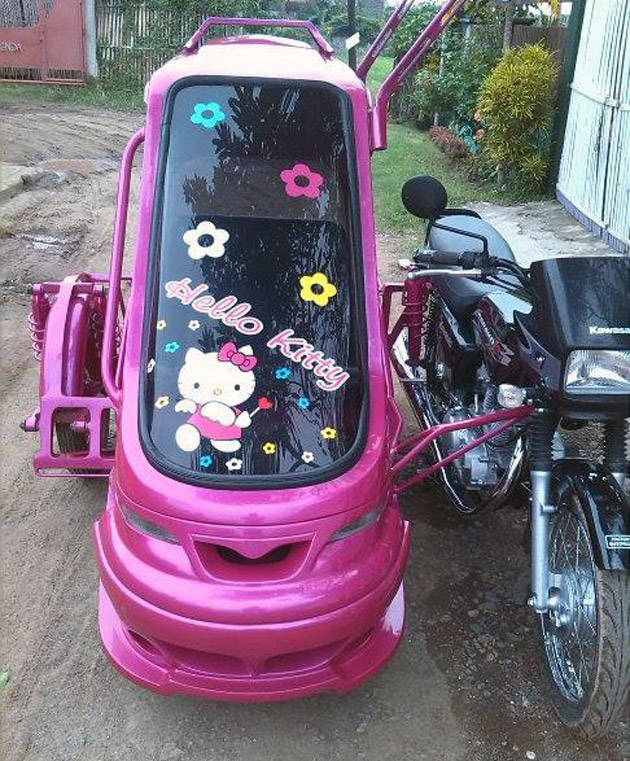 We Have Seen Hello Kitty Cars, But This Tricycle Trumps