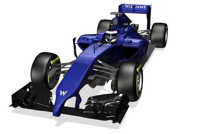 Williams' 2014 Formula 1 car shows its nose