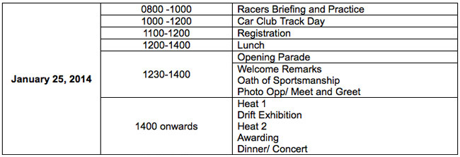 Vios Cup schedule of activities