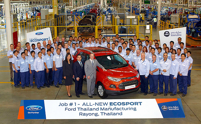 TopGear.com.ph Philippine Car News - Ford begins production of EcoSport at its Thailand facility