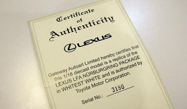 AUTOart Lexus LFA