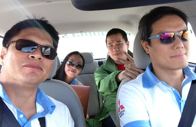 Top Gear PH team at Mitsubishi Mirage G4 fuel economy run